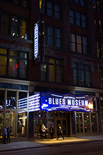 National Blues Museum neon sign