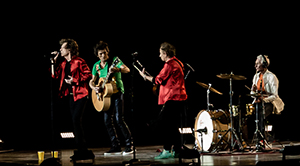 Rolling Stones on small stage